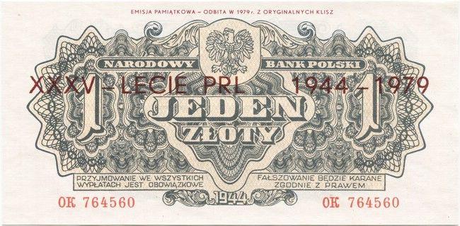 1 Zloty 1979 (Gedenkausgabe 35 Jahre Volksrepublik)