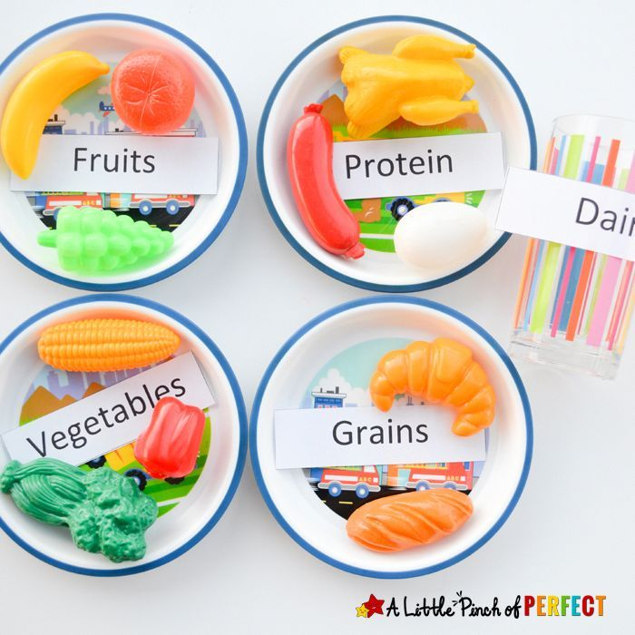 Science for Kids: Learning about the 5 Food Groups + Printable - #kidsnutrition