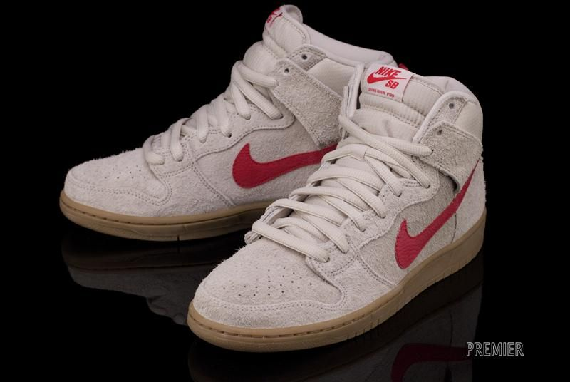 A new Nike SB Dunk High Pro in Birch/Hyper Red is beginning to arrive at  retailers. Find this Pin and more ...