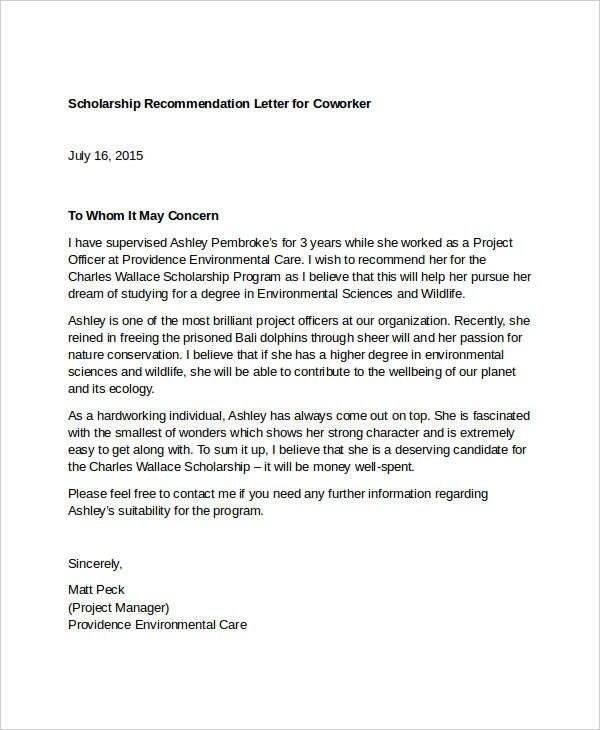 Reference Letter Template For Coworker 10 Important Facts That You