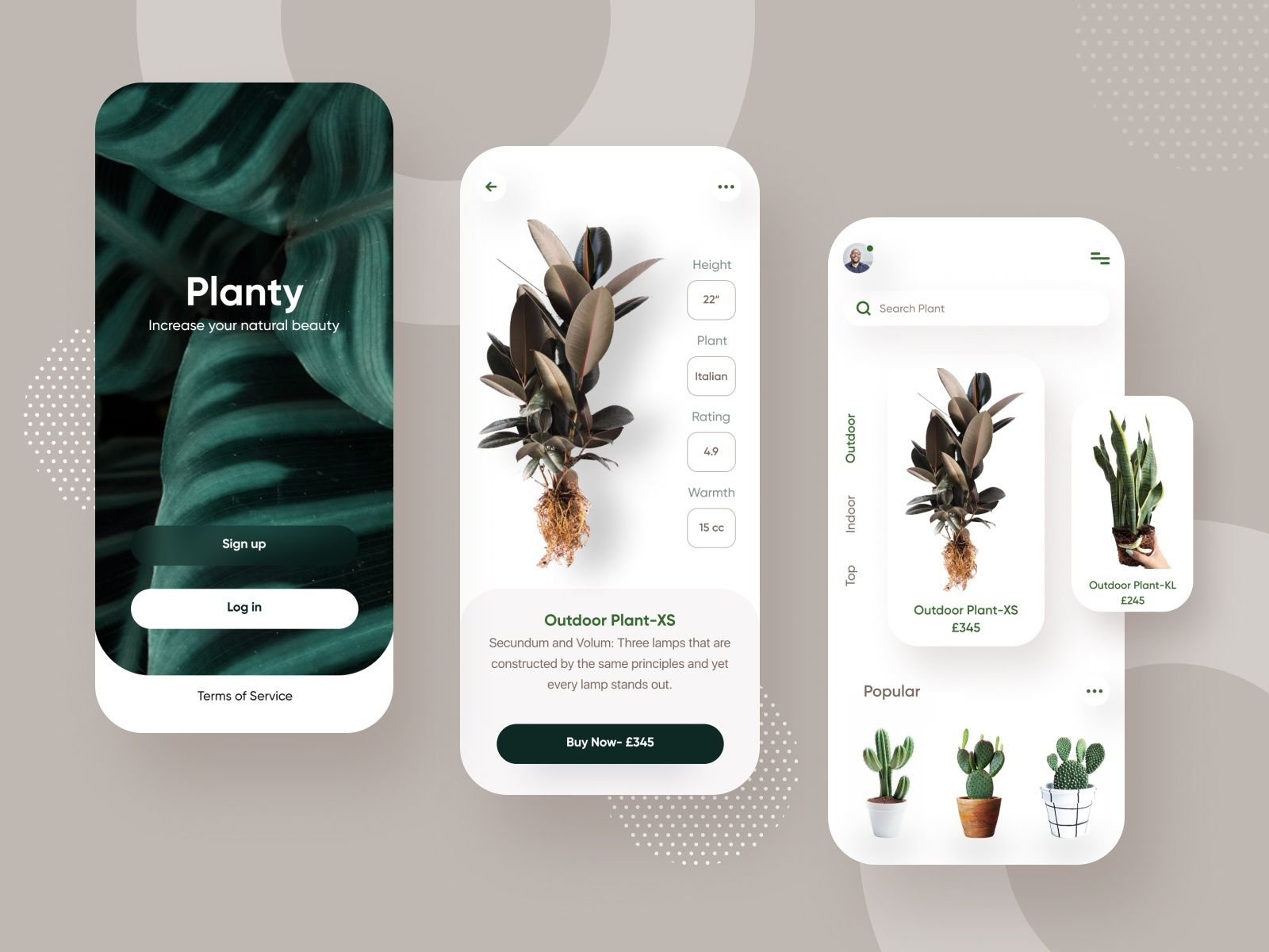 Plant Shop App Design App Interface Design Mobile App Design Inspiration