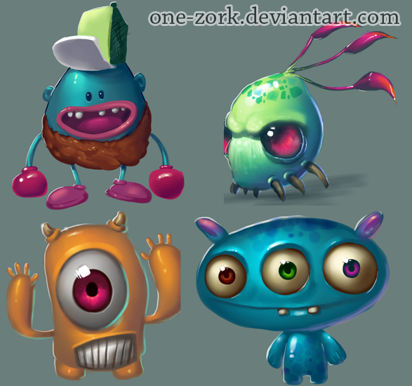 monsters concept by *thezork on deviantART