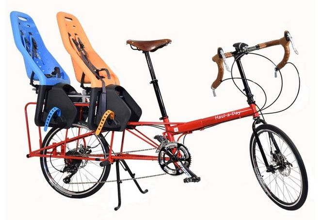 the size adjustable, extremely light, easily transportable and storable Haul-a-Day #cargo #bike | design: #bike #friday