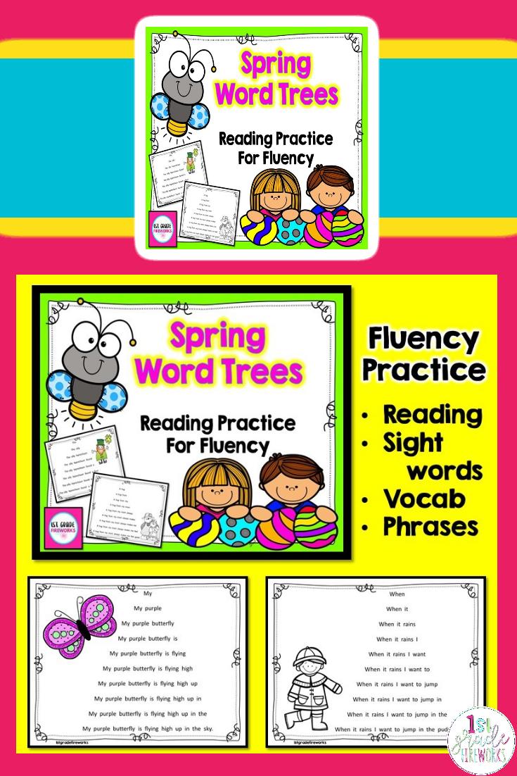 Spring Word Trees Bundled Spring Words Teaching Reading Comprehension Words [ 1102 x 735 Pixel ]