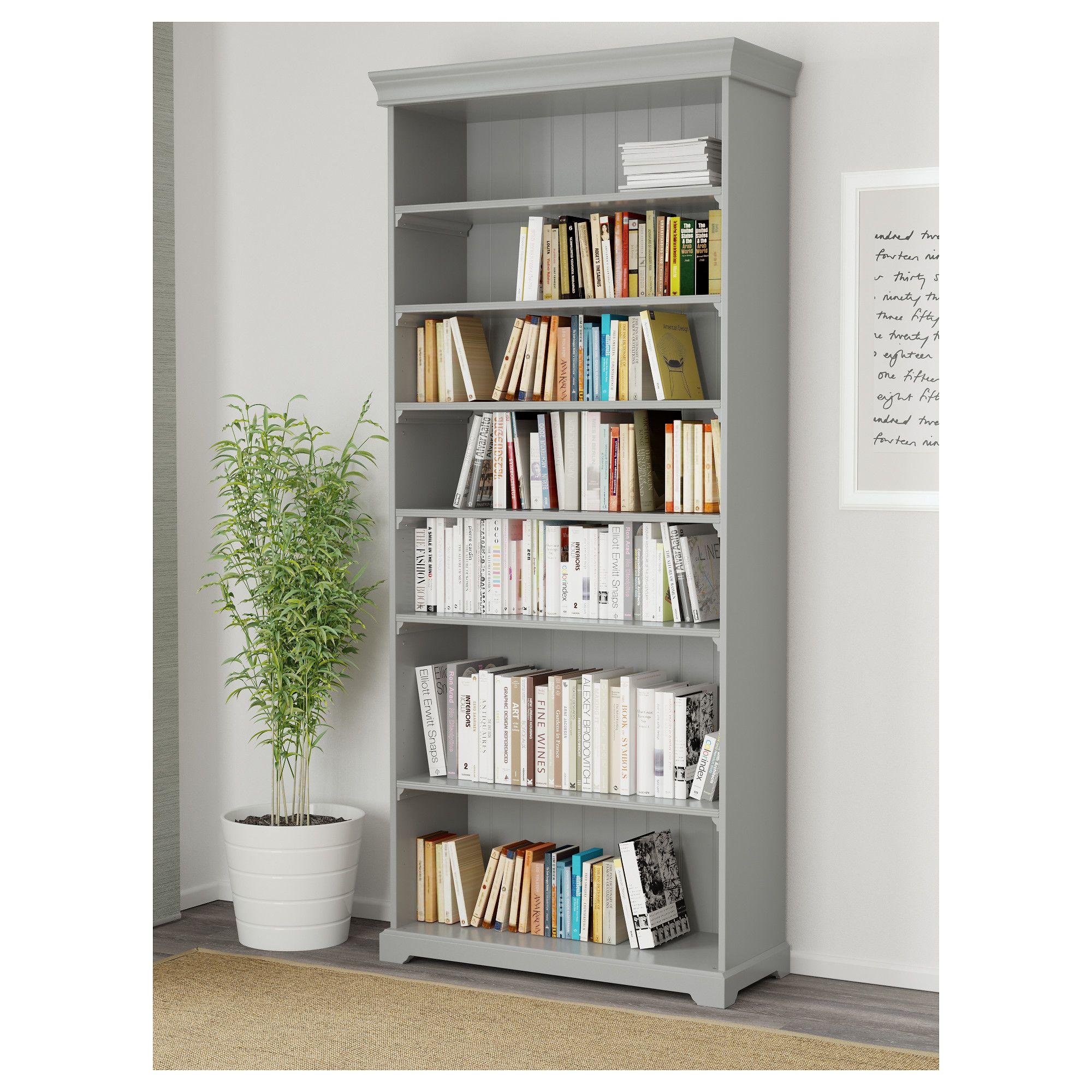 LIATORP Bookcase, gray | Liatorp, Cornice and Shelves