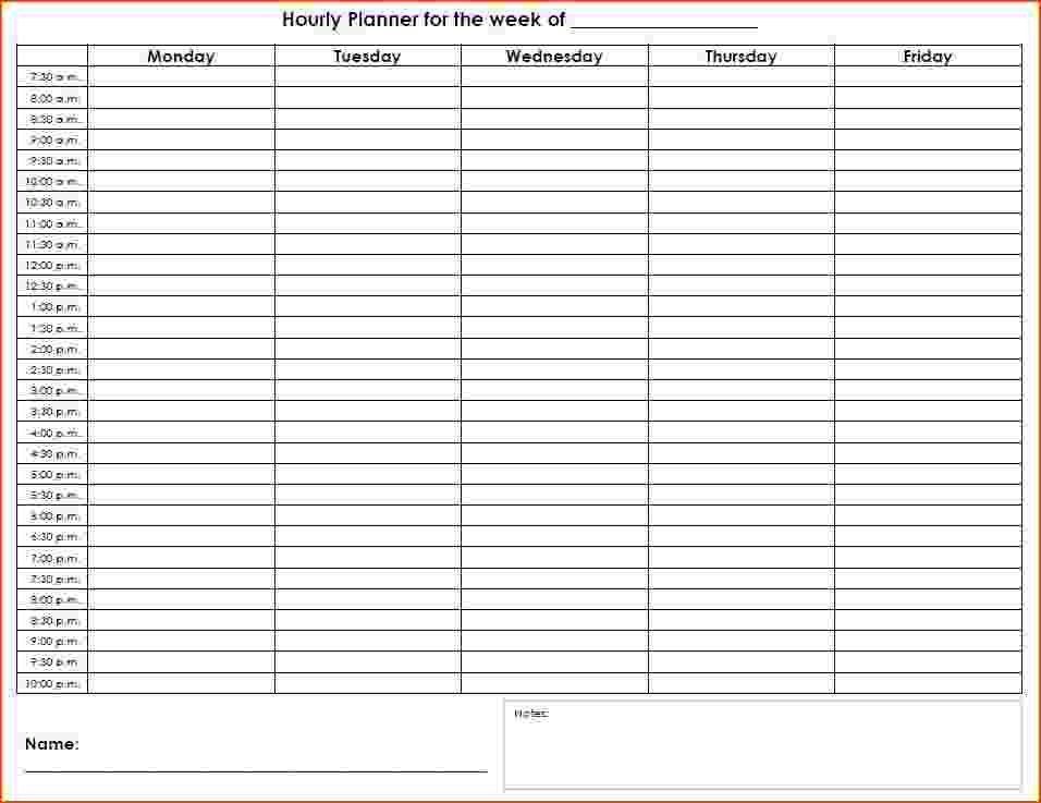 24 hour 7 day schedule template Schedule Template Pinterest