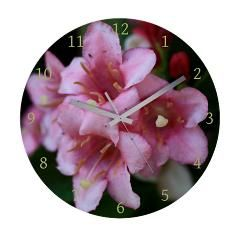 Pink Flower Macro Wall Clock > Pink Flower Macro > Rosemariesw Design Photo Gifts