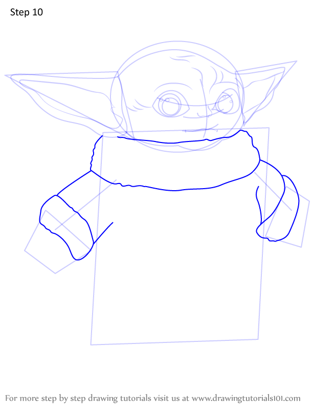 Learn How To Draw A Baby Yoda Star Wars Step By Step Drawing