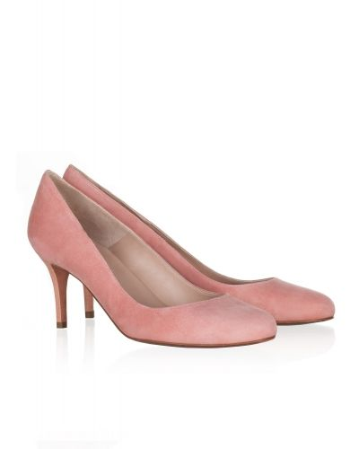 24454cc72 Zapatos de salón en ante rosado