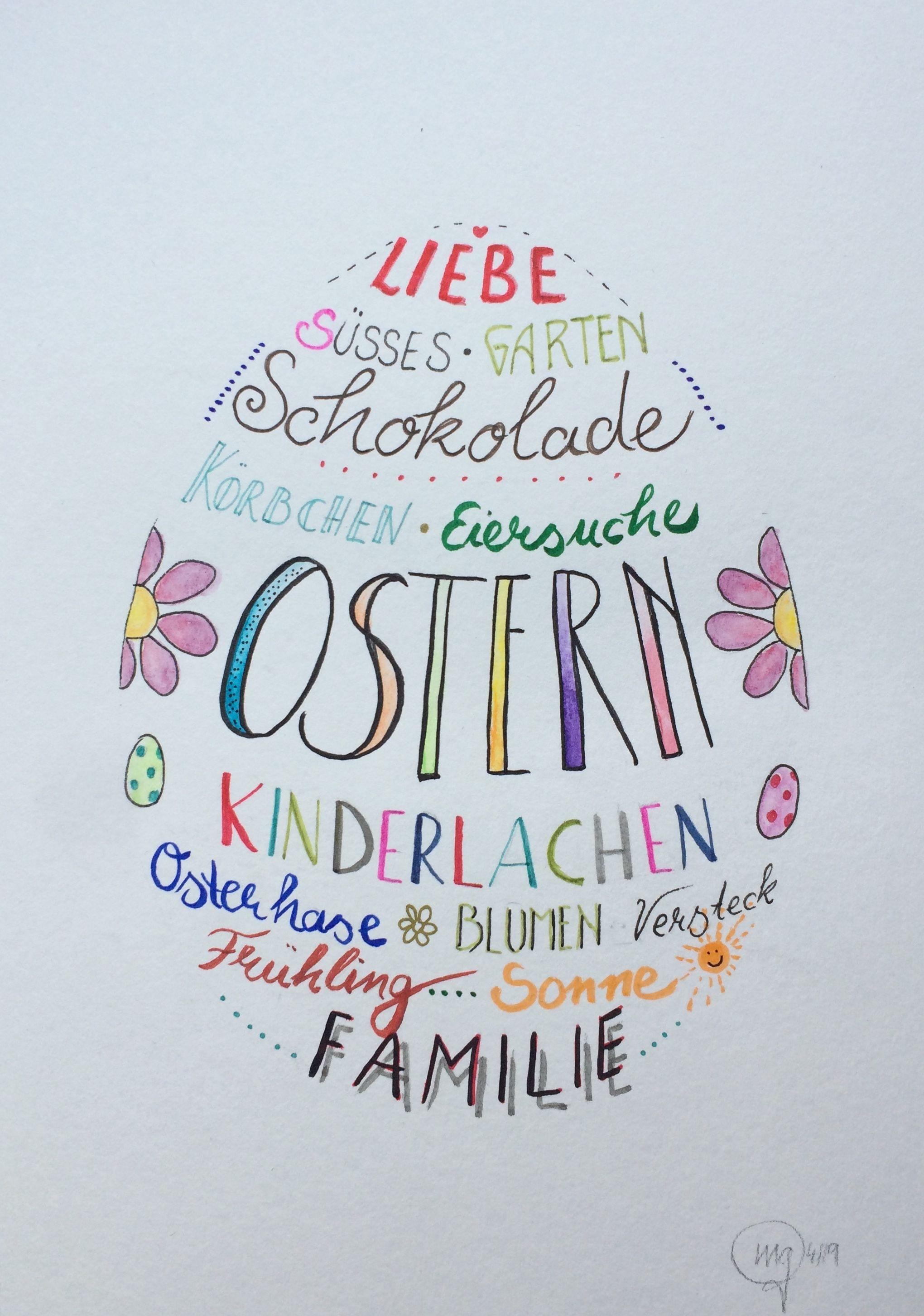 Ostern, Handlettering   Karten basteln ostern, Ostern, Frohe ostern