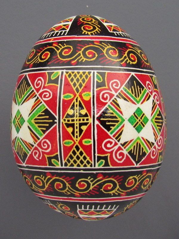 Pysanka Real Ukrainian Easter Egg Hen Chicken Shell Geometric Design Towels  P3 | EBay
