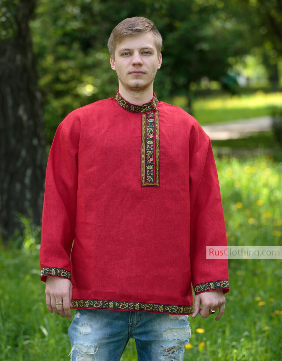 russian shirt  linen kosovorotka in 2020  clothes