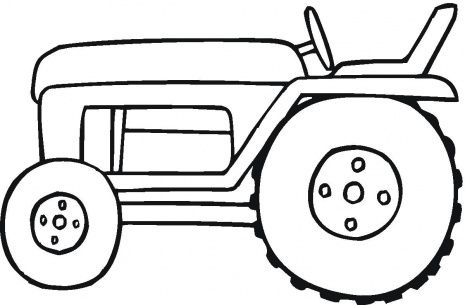 Tractor coloring page more
