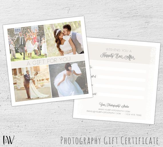 Photography Gift Card Template, Newborn Photography, Gift