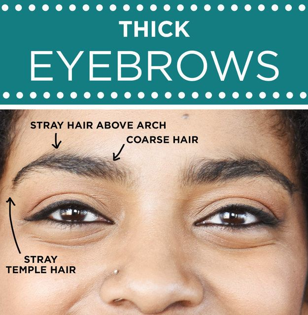 For Eyebrows That Are Already Thick Focus On Cleaning Up Around The