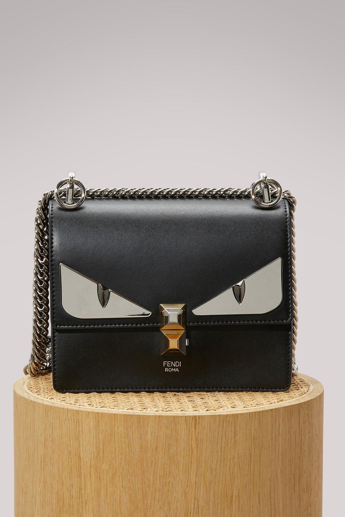 FENDI KAN I SMALL SHOULDERBAG.  fendi  bags  shoulder bags  hand bags   leather   44098b4672ab7