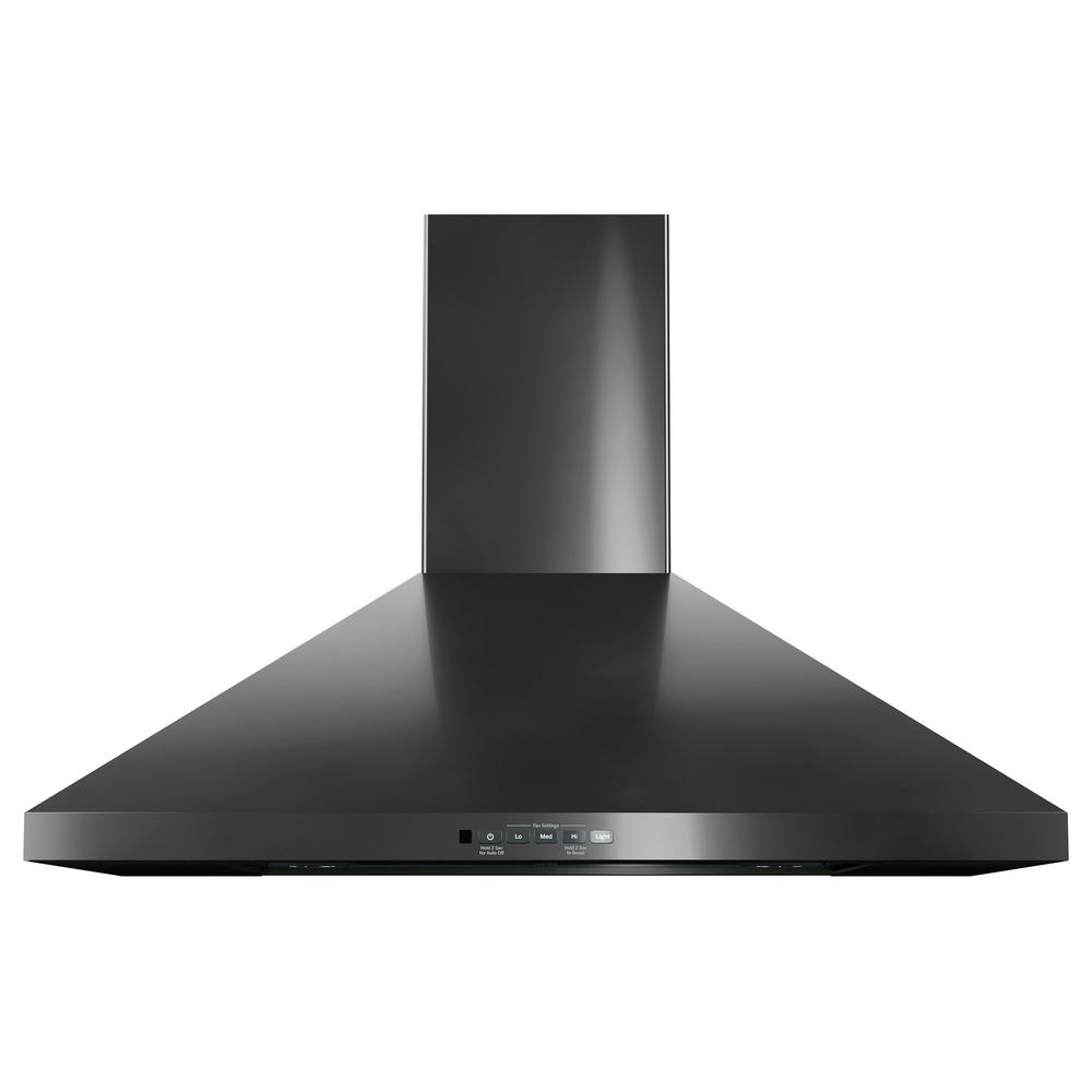 30 In Convertible Wall Mount Range Hood With Light In Black Stainless Steel Wall Mount Range Hood Range Hood Black Stainless Steel