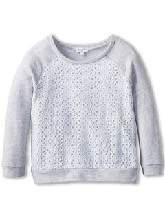 love this with the eyelet body and the sweatshirt sleeves and back.