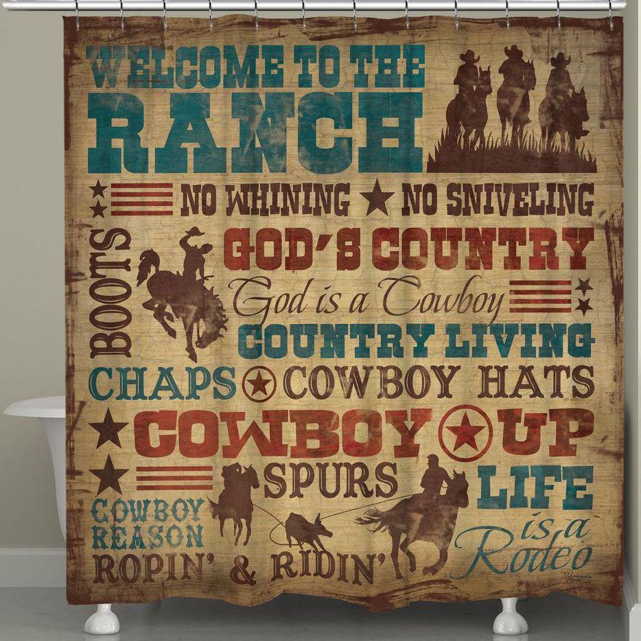 Rustikale vintage badezimmer dekor cowboy lifestyle shower curtain  barnwood  pinterest