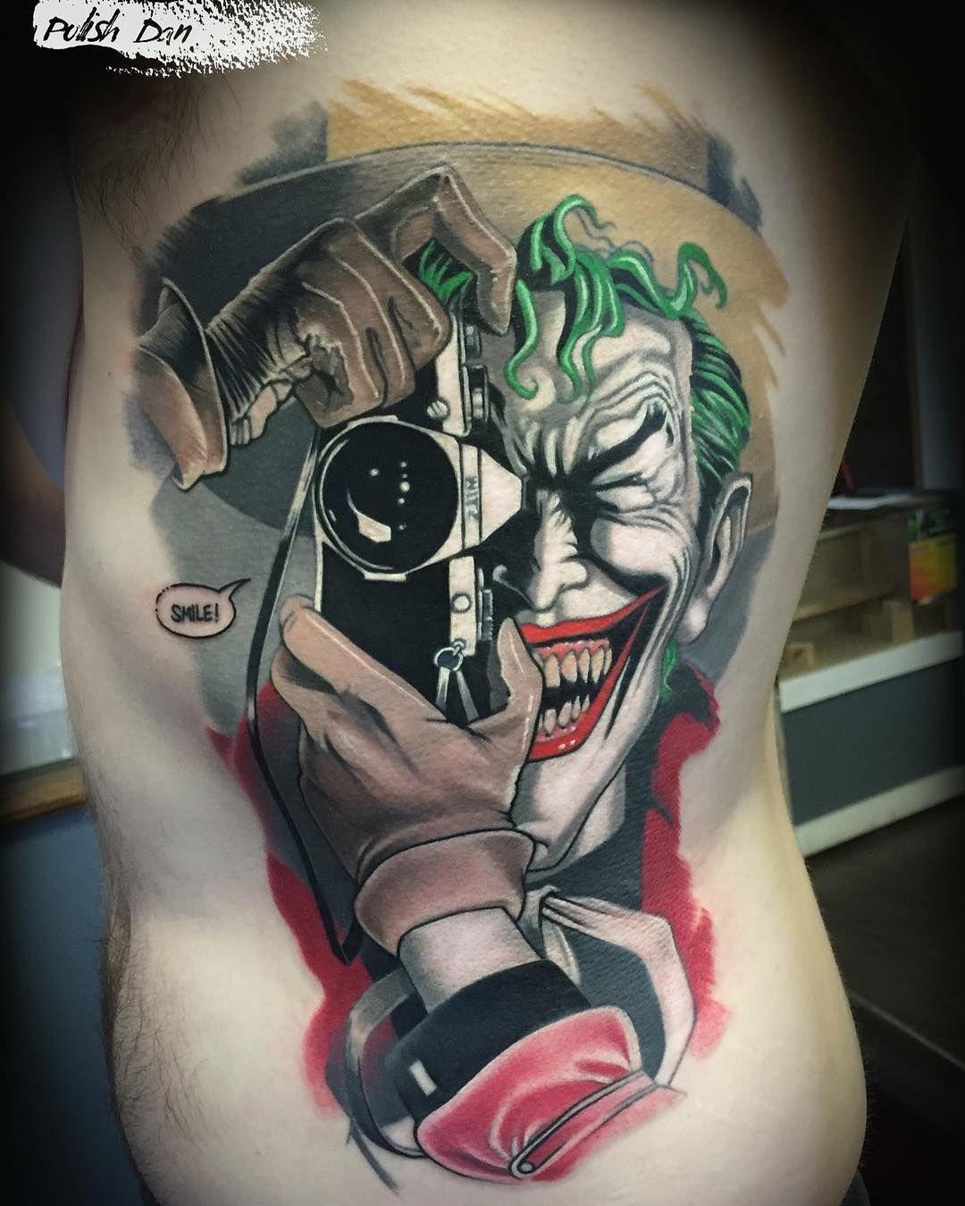 562 Likes 13 Comments Polish Dan Polish Dan Tattoo On Instagram Tattoo Tattooart Realistictattoo Joker Tattoo Joker Tattoo Design Joker Card Tattoo