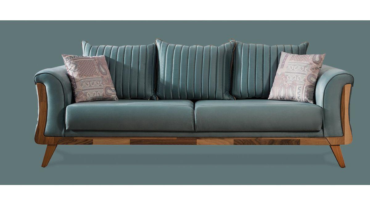 Defne Koltuk Takimi Mint Yesili Vivense Modern Furniture Living Room Open Living Room Design Sofa Design