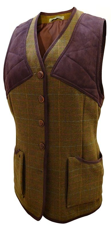 Laksen Skibo Ladies Tweed Shooting Vest Size 10 lovely