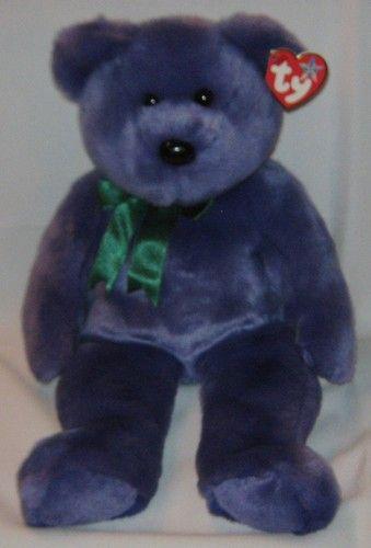 EMPLOYEE BEAR the Purple Bear - Ty Beanie Baby BUDDY (buddies ... 9f61f8b5848b