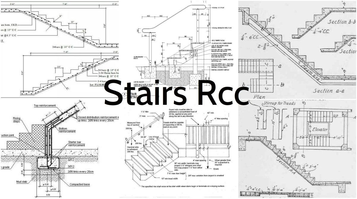 All the important details for stairs rcc architecture for Rcc home design
