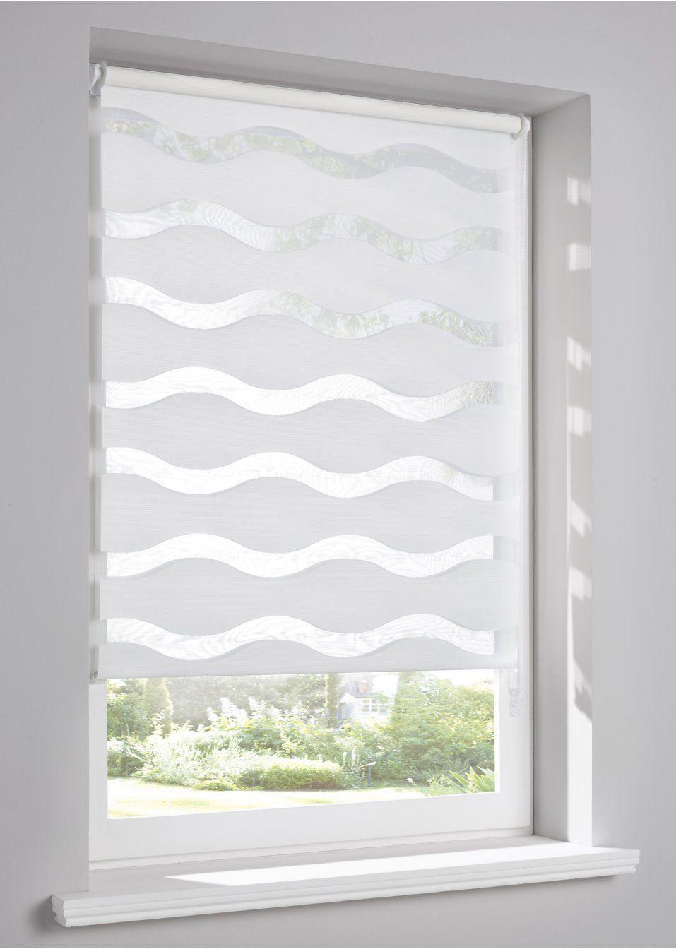 Toller Sichtschutz In Modisch Gewellt Weiss Klemmtrager Bad Gardinen Renovierung Und Einrichtung Rollo Fenster