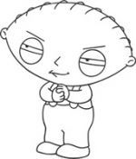 evil stewie coloring pages