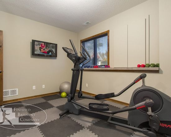 Home Gym Basement Gym Design Like the floor ; ) Basement Gym