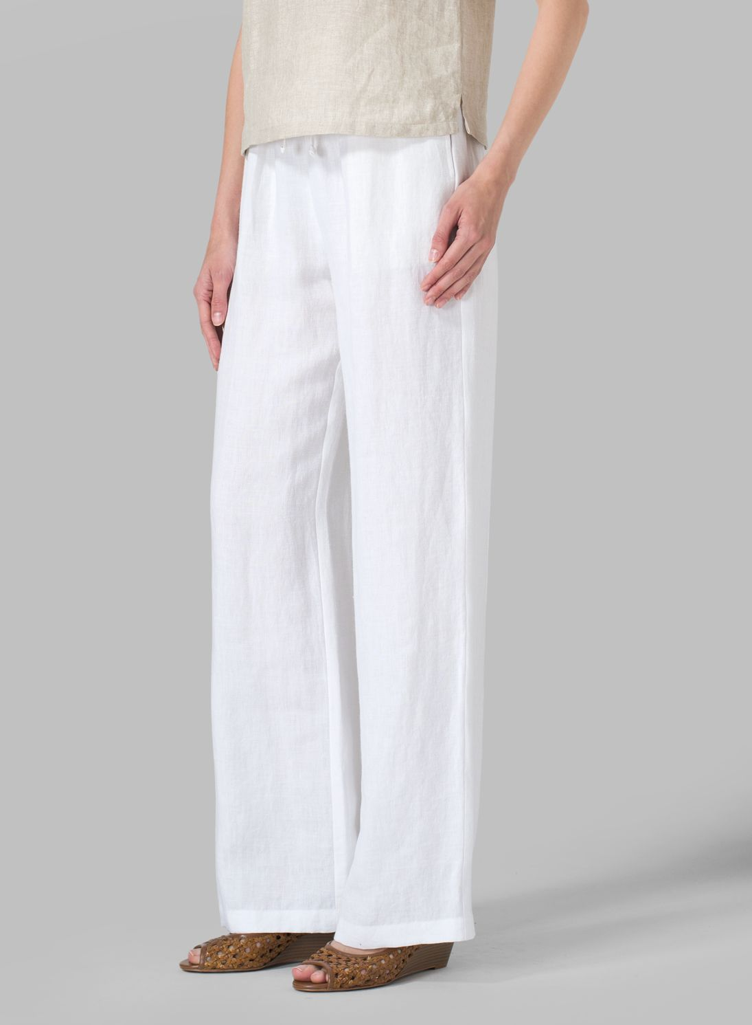 Linen Long Straight Pull-On Pants | Only you have to know it\'s a ...