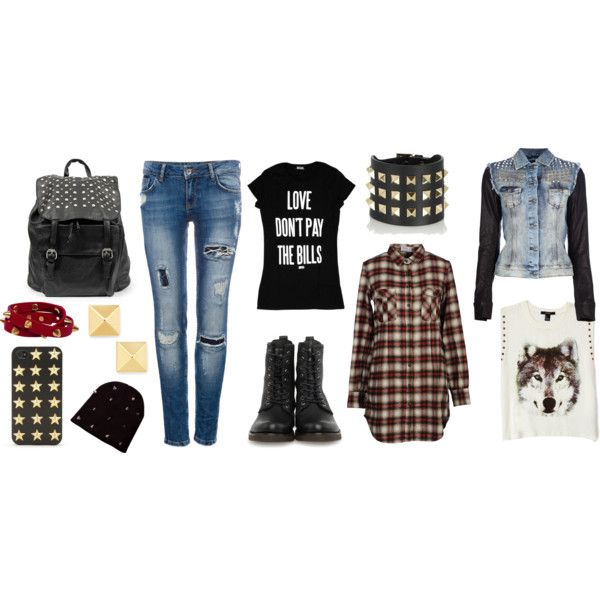 """""""This Fall Perfect Outfit : PUNK !"""" by emilyyzzz on Polyvore"""