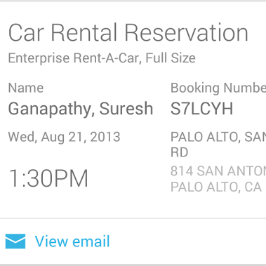 Google Now Gets New Entertainment Breaking News And Sports Cards Car Rental Concert Tickets Rental