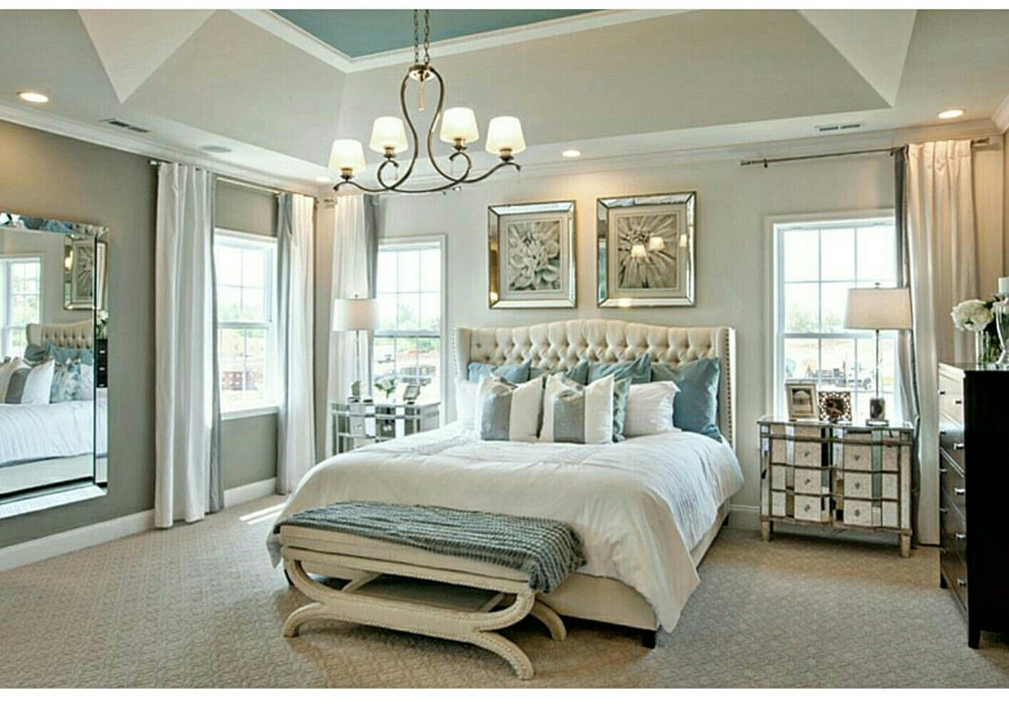 Master bedroom grey  Pin by Karlin Schultz on Home ideas  Pinterest  Bedrooms Master