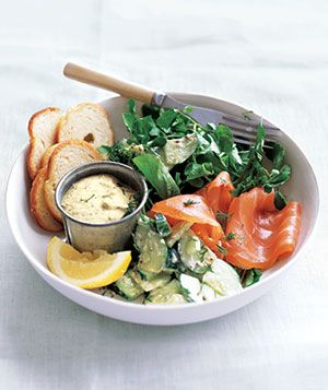 No-Cook Meal: Smoked Salmon With Creamy Cucumber Salad