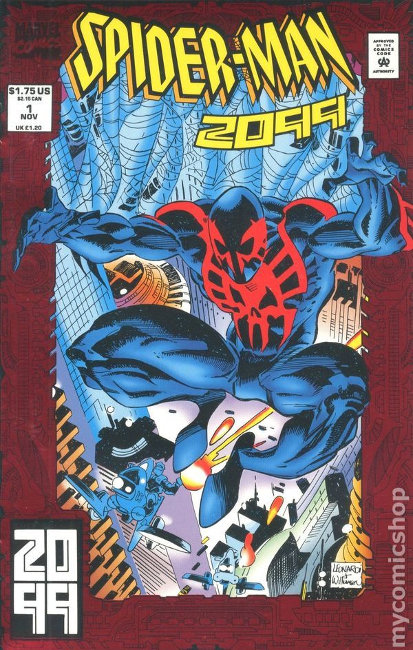 Spider-Man 2099 (1992 1st Series) 1  Marvel Comics Modern Age Comic book covers Super Heroes  Villians