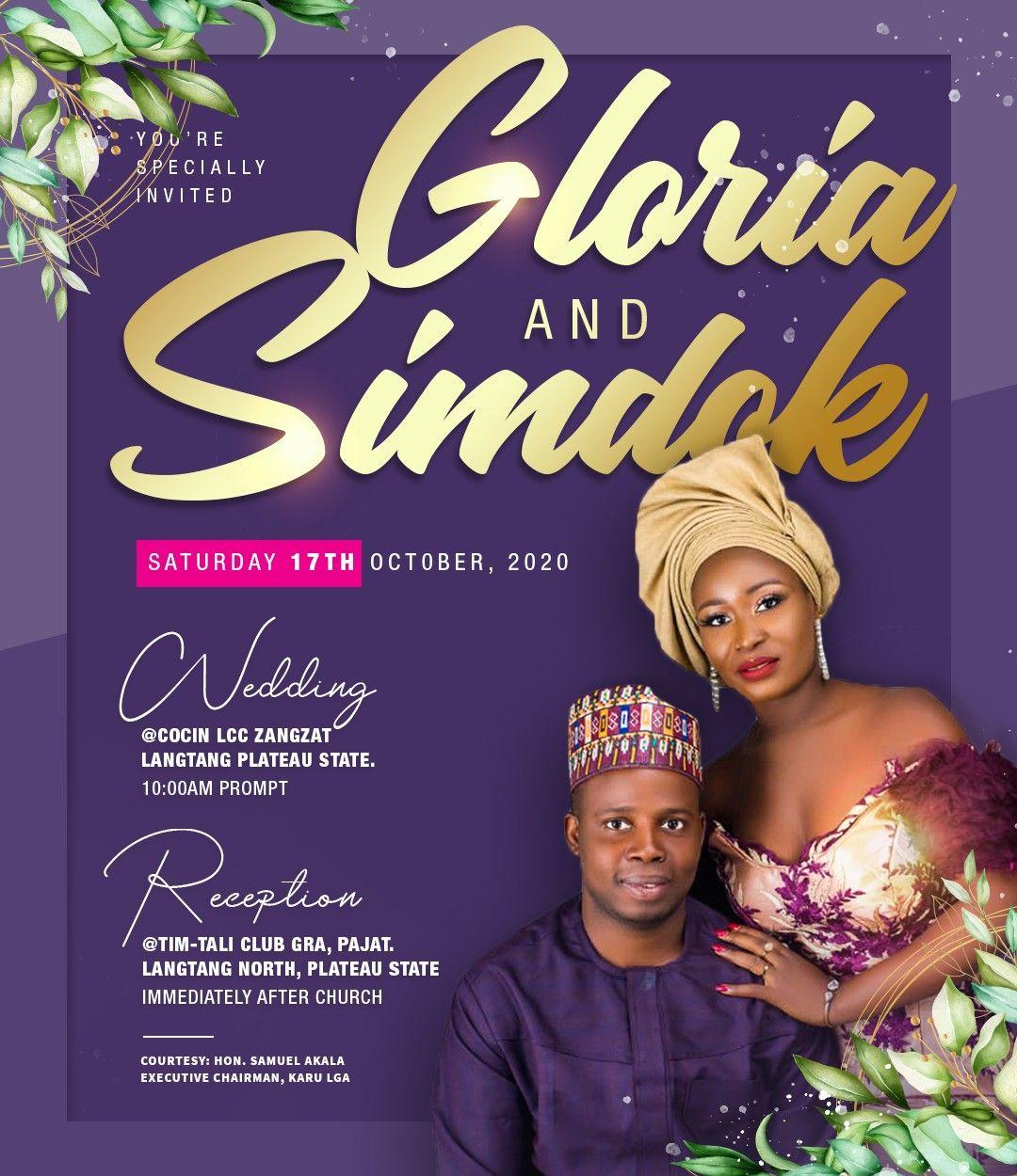 Gloria Simdok Wedding Banner Design Event Poster Design Inspiration Event Poster Design
