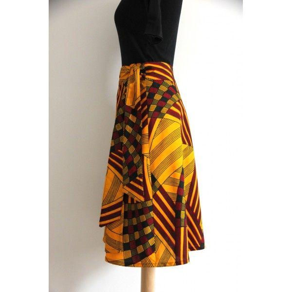 jupe portefeuille enora en wax robes pinterest jupe portefeuille enora et portefeuilles. Black Bedroom Furniture Sets. Home Design Ideas