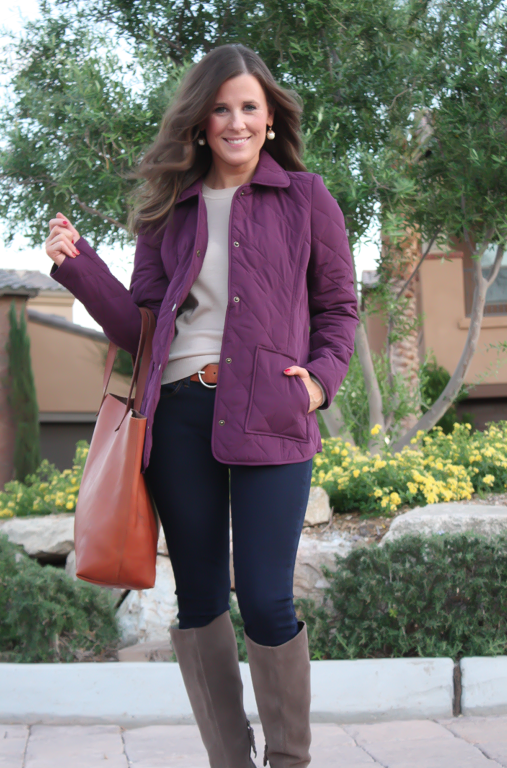 Style Watch : Quilted Jackets for Fall | Quilted jacket and Fall ... : purple quilted jacket - Adamdwight.com