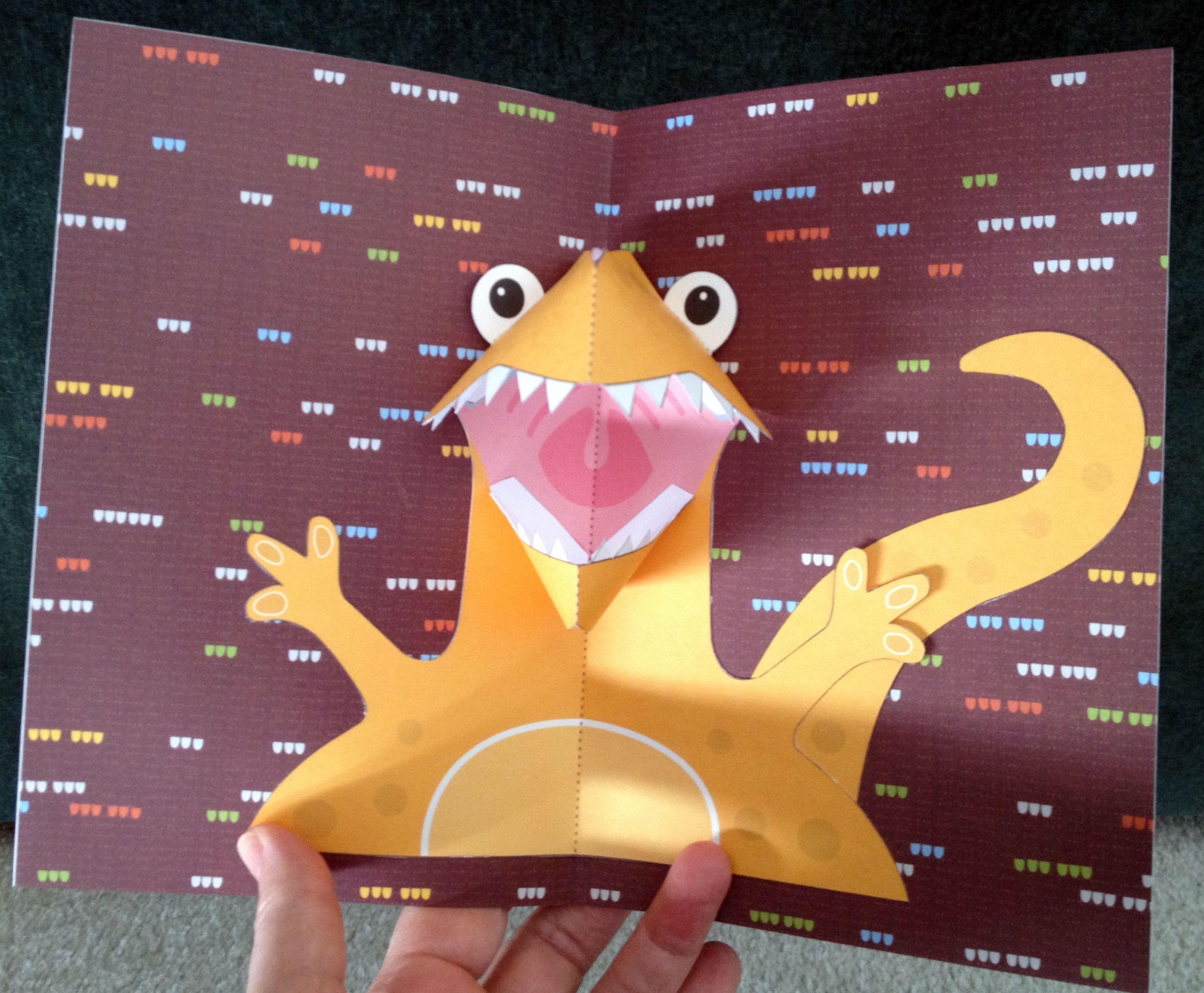 Dino Pop Up Card Dinosaur Cards Paper Crafts Cards Card Craft