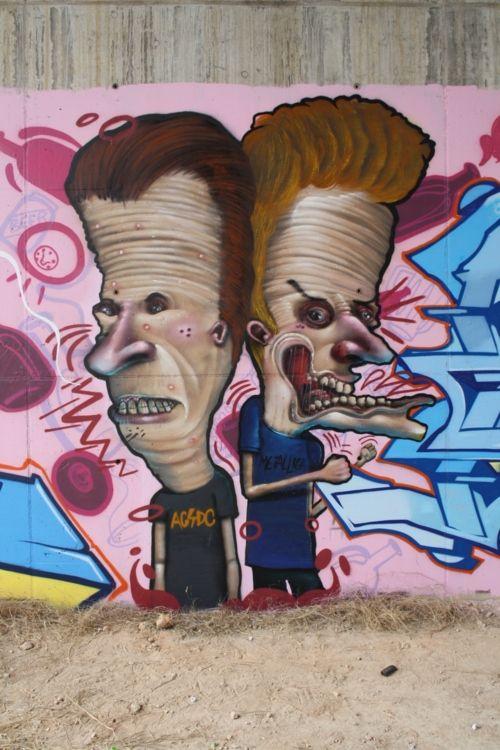 Global Street Art, Beavis and Butthead.