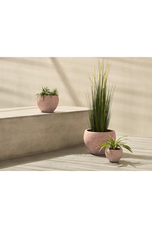 3 x Malin Übertöpfe, Terrazzo in Rosa