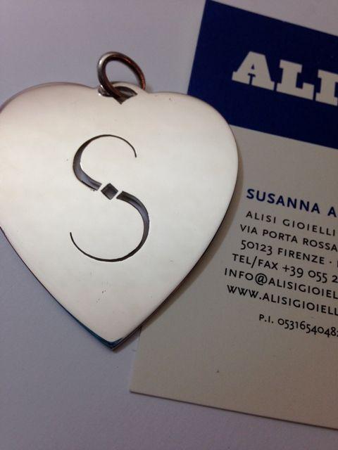 Pendente cuore in argento, Semplicissimo ma ovviamente Sempre personalizzato! per Sara, Silvia, Stefania, Serena...