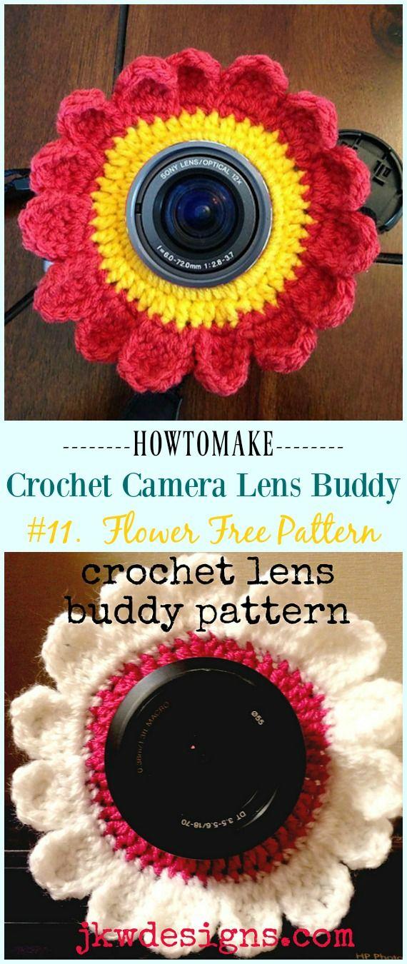 Crochet Camera Lens Buddy & Cozy Patterns #crochetcamera