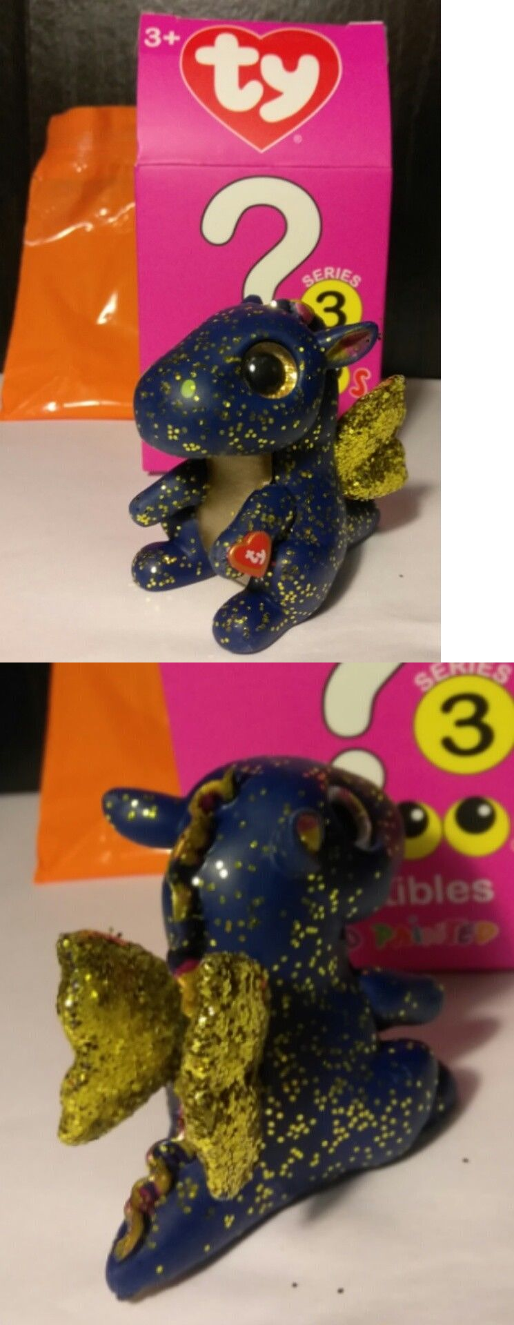 Series 3 SAFFIRE the Dragon Mystery Chaser TY Beanie Mini Boo