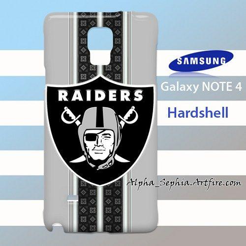 Oakland Raiders Pattern Stripes Samsung Galaxy Note 4 Case