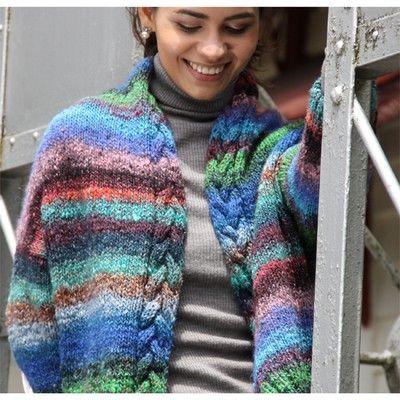Noro Obi Cabled Jacket Free Knitting Pattern Knitting