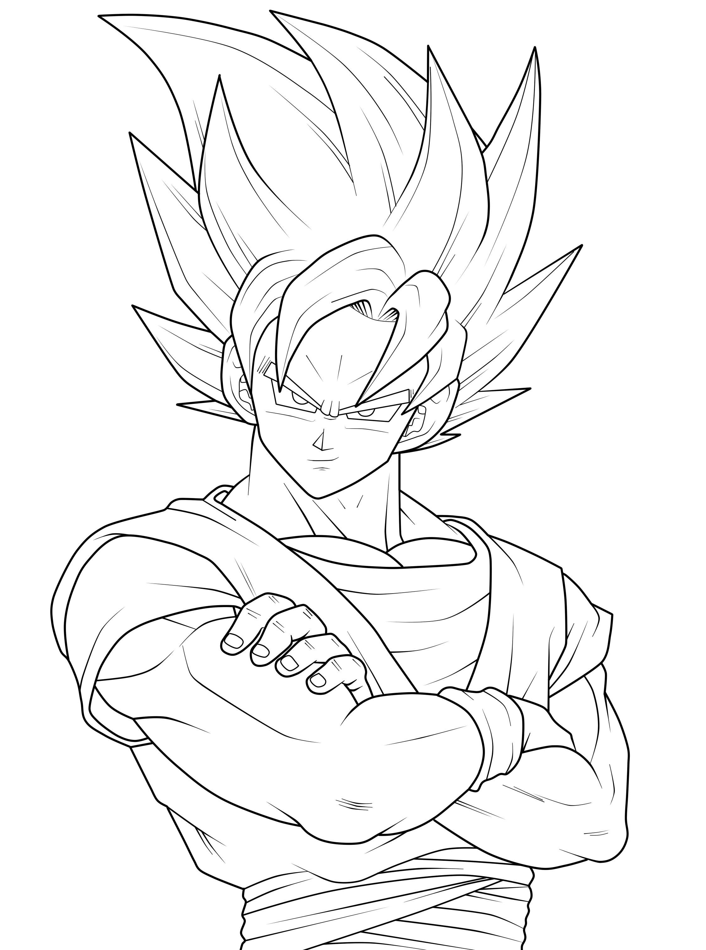 goku-coloring-pages-10.png (2249×3025) | Graphite Pencil Art ...