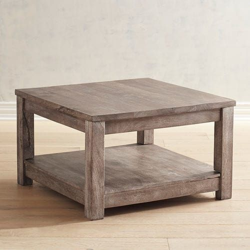 parsons truffle gray square coffee table interior decorating rh pinterest com